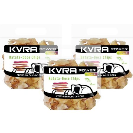 Power Snack - Chips de Batata-doce - kit com 3 unidades