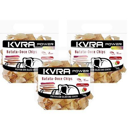 Power Snack - Chips de Batata-doce - Tomate e cebolinha - kit com 3 unidades