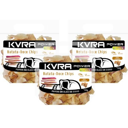 Power Snack - Chips de Batata-doce - churros - kit com 3 unidades