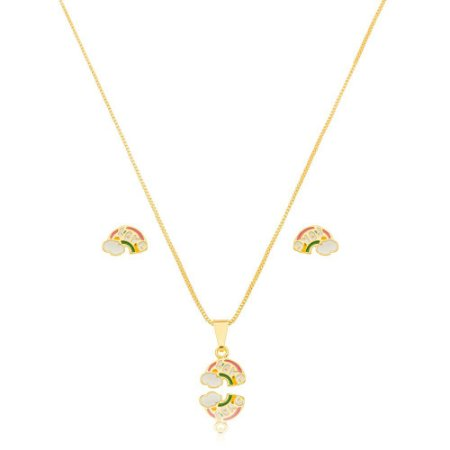 Conjunto Dourado Arco Íris Love Petit