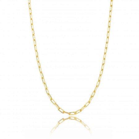 Colar Dourado Elos Finos Cartier