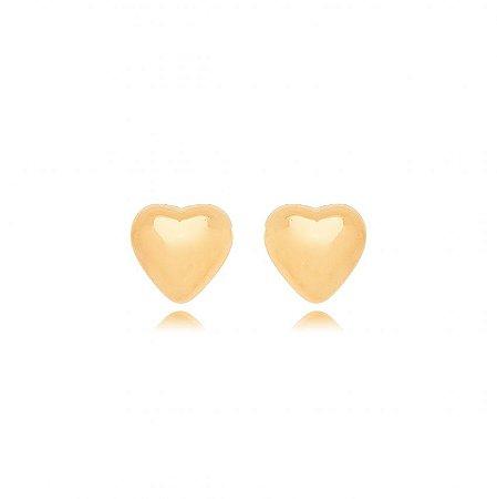Brinco Dourado Coração Pequeno