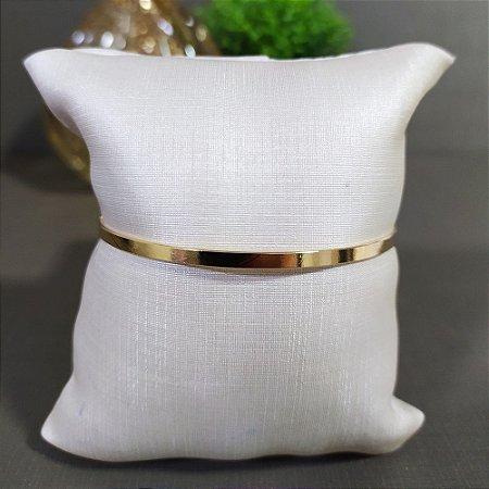Bracelete Dourado Liso Fino