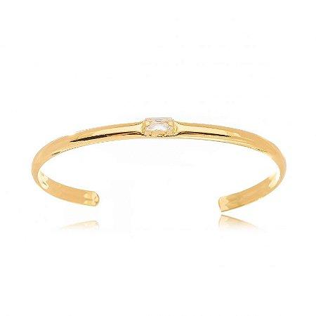 Bracelete Dourado Cristal Retângulo