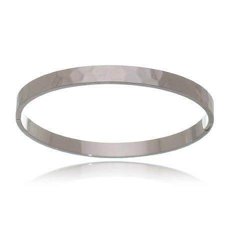 Bracelete Ródio Negro Cartier Martelado