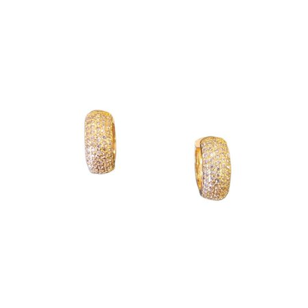 Argola Dourada Zircônias