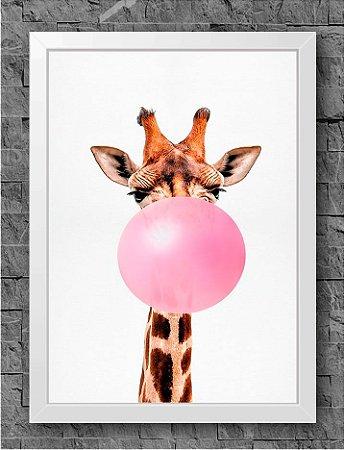 Quadro Chiclete Girafa