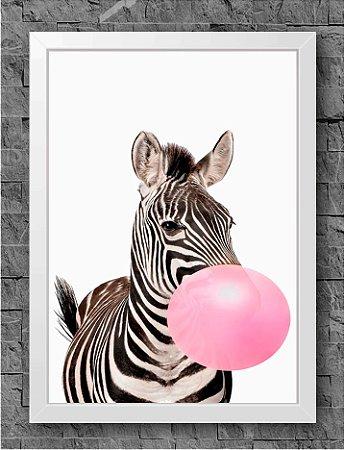 Quadro Chiclete Zebra