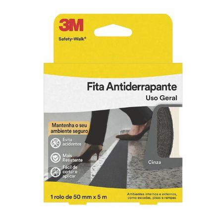 FITA ANTIDERRAPANTE SAFETY WALK CINZA 50mmX5m - 3M