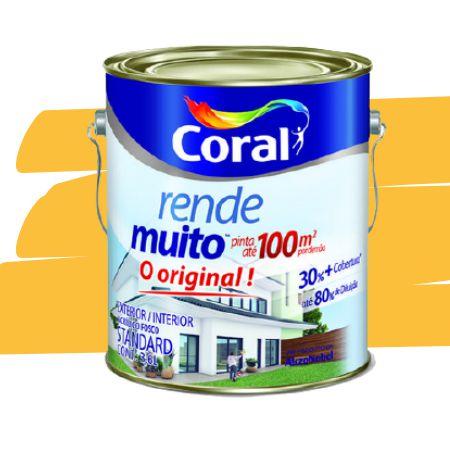 TINTA ACRÍLICA RENDE MUITO AMARELO FREVO 3,6L - CORAL