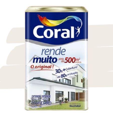 TINTA ACRÍLICA RENDE MUITO AREIA 18L - CORAL