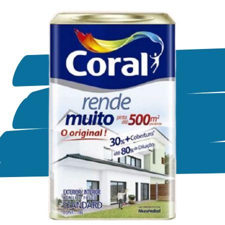 TINTA ACRÍLICA RENDE MUITO AZUL PROFUNDO 18L - CORAL