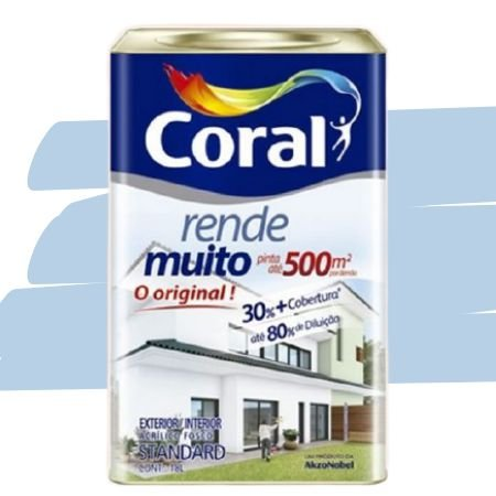 TINTA ACRÍLICA RENDE MUITO AZUL SERENO 18L - CORAL