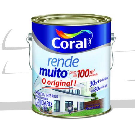 TINTA ACRÍLICA RENDE MUITO BRANCO 3,6L - CORAL
