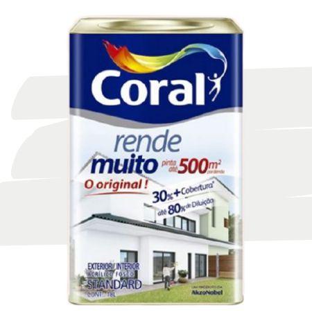 TINTA ACRÍLICA RENDE MUITO BRANCO GELO 18L - CORAL