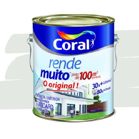 TINTA ACRÍLICA RENDE MUITO BRANCO GELO 3,6L - CORAL