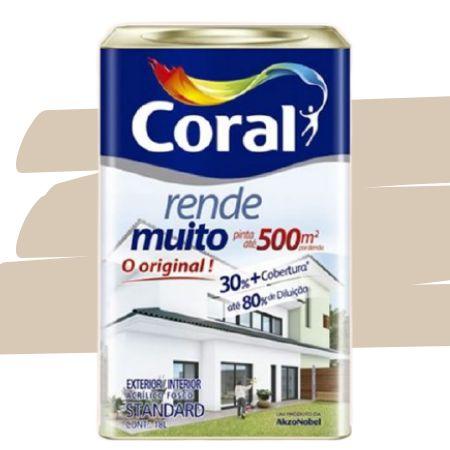 TINTA ACRÍLICA RENDE MUITO CAMURÇA 18L - CORAL