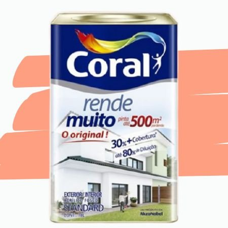 TINTA ACRÍLICA RENDE MUITO FLAMINGO 18L - CORAL