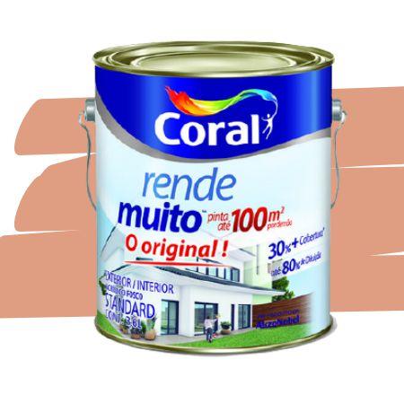TINTA ACRÍLICA RENDE MUITO FLAMINGO 3,6L - CORAL