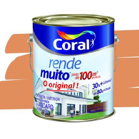 TINTA ACRÍLICA RENDE MUITO LARANJA IMPERIAL 3,6L - CORAL