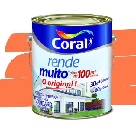 TINTA ACRÍLICA RENDE MUITO LARANJA MARACATU 3,6L - CORAL