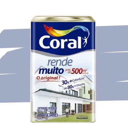 TINTA ACRÍLICA RENDE MUITO LILÁS 18L - CORAL