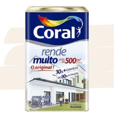 TINTA ACRÍLICA RENDE MUITO MARFIM 18L - CORAL