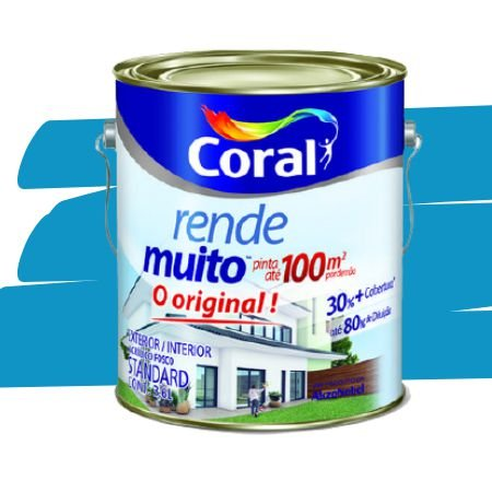 TINTA ACRÍLICA RENDE MUITO OCEANO 3,6L - CORAL