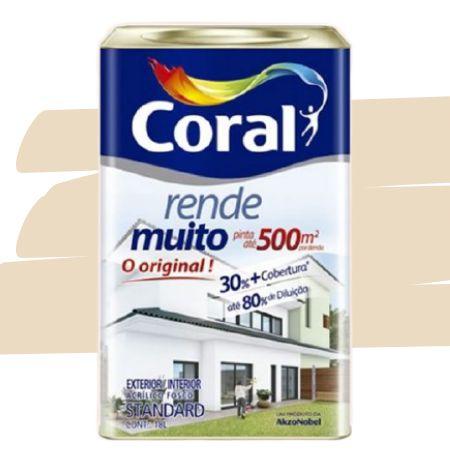 TINTA ACRÍLICA RENDE MUITO PALHA 18L - CORAL