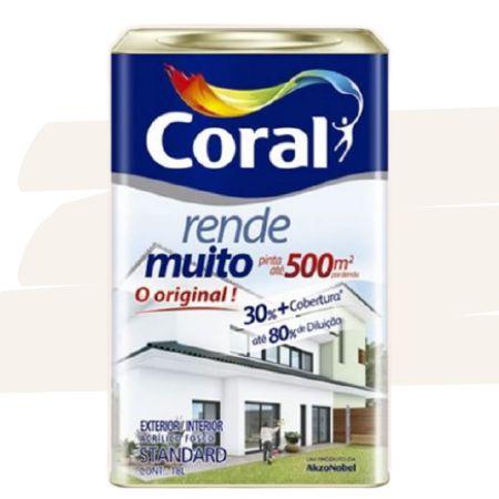 TINTA ACRÍLICA RENDE MUITO PEROLA 18L - CORAL