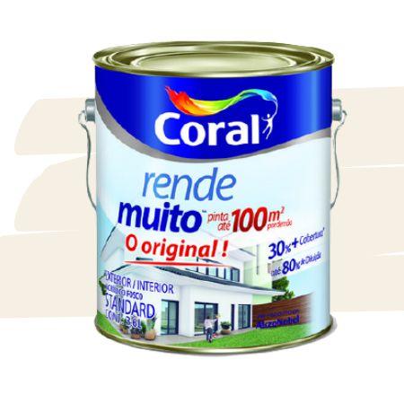 TINTA ACRÍLICA RENDE MUITO PÉROLA 3,6L - CORAL