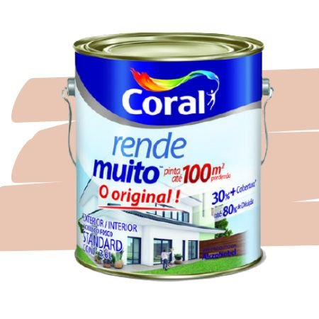 TINTA ACRÍLICA RENDE MUITO PÊSSEGO 3,6L - CORAL