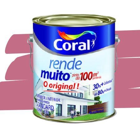TINTA ACRÍLICA RENDE MUITO ROSA ACAÍ 3,6L - CORAL
