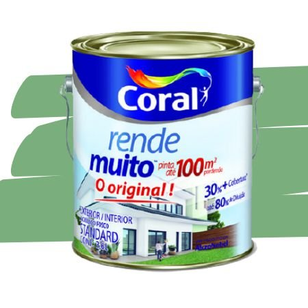 TINTA ACRÍLICA RENDE MUITO VERDE ANGRA 3,6L - CORAL