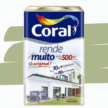 TINTA ACRÍLICA RENDE MUITO VERDE KIWI 18L - CORAL