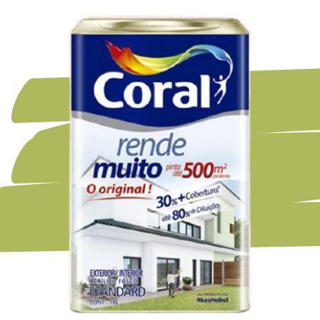 TINTA ACRÍLICA RENDE MUITO VERDE LIMÃO 18L - CORAL
