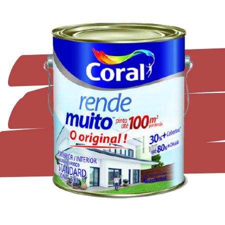 TINTA ACRÍLICA RENDE MUITO VERMELHO CARDINAL 3,6L - CORAL