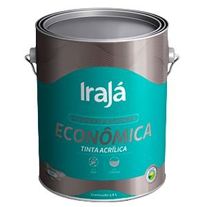 TINTA ACRÍLICA ECONÔMICA PRETO 3,6L - IRAJÁ