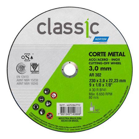 DISCO CORTE FERRO AR 302  9x1/8x7/8 - NORTON
