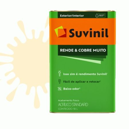 TINTA ACRÍLICA RENDE COBRE MUITO PALHA 18L - SUVINIL