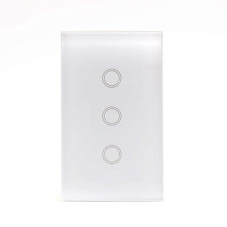 Interruptor Inteligente Wi-fi Vess Touch 4x2 - 3 Teclas