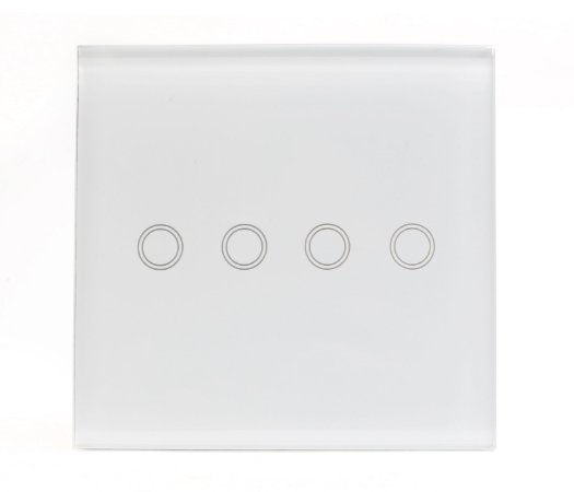 Interruptor Inteligente Wi-fi Vess Touch 4x4 - 4 Teclas