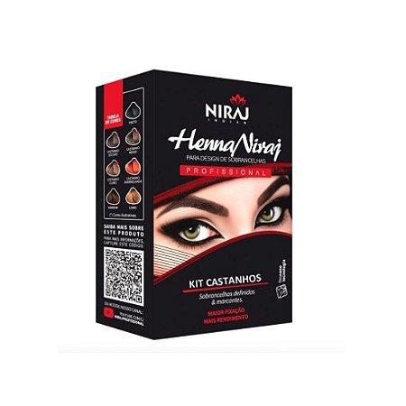 Niraj Henna Para Design De Sobrancelhas Castanho Escuro 1,5g