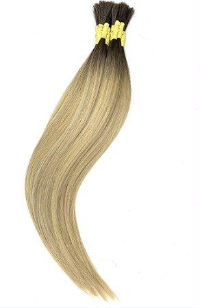 Cabelo Humano Liso Ombré Hair Mesclado 50 / 55 Centímetros 50 Gramas