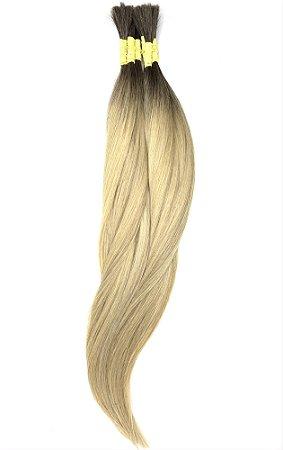 Cabelo Humano Liso Ombré Hair Mesclado 60 / 65 Centímetros 50 Gramas