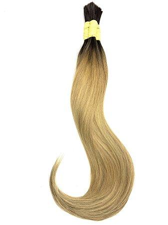 Cabelo Humano Liso Ombré Hair Loiro Mesclado  60 / 65 Centímetros 50 Gramas