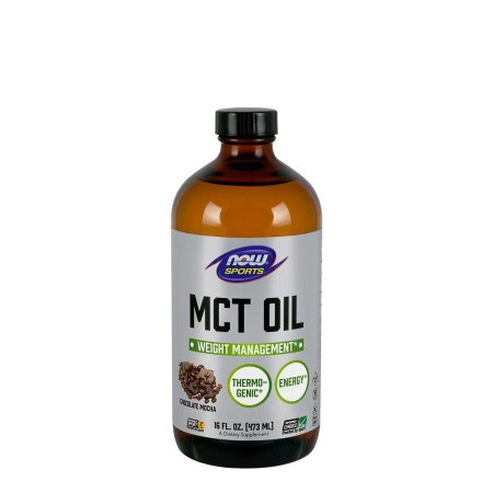 MCT OIL - (473ml) CHOCOLATE MOCHA - NOW SPORTS - Day Offer