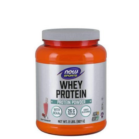 WHEY PROTEIN  STRAWBERRY 2LBS/907G - NOW FOODS