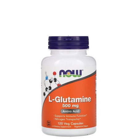 L-Glutamina, 500 mg, 120 Caps NOW FOODS