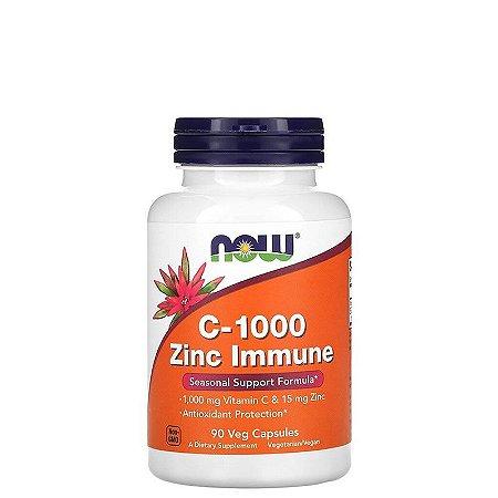 Vitamina C 1000 + Zinco Immune 90 caps NOW FOODS